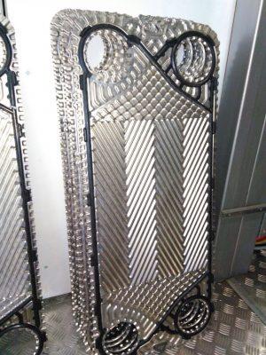 Платины теплообменника после промывки