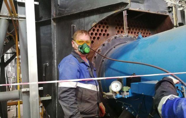 Успешное завершение работ по очистке котла и котельного оборудования