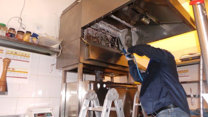 Ход очистки системы вентиляции
