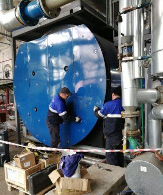 Работы по очистке котла HURST Boiler SG-1800-225