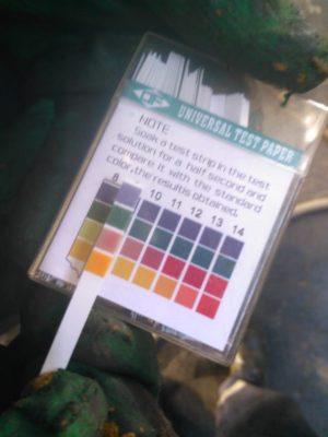 Контроль за химической реакцией при очистке теплообменного оборудования