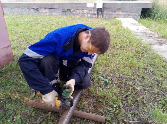 Подготовка участков трубопровода к прочистке