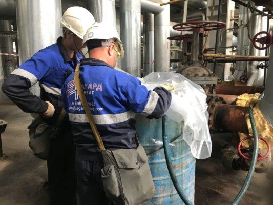Специалисты АСГАРД в ходе химической очистки теплообменного оборудования на НПЗ г.Туапсе