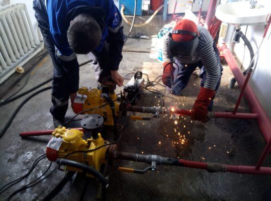 Установка новых насосов и их подключение к системе