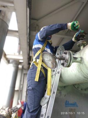 Промывка теплообменников Е-306 и Е-806