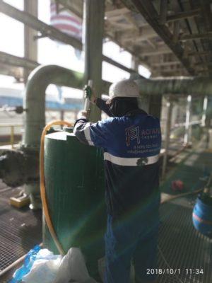 В результате слаженной профессиональной работы, промывки были завершены на день раньше срока