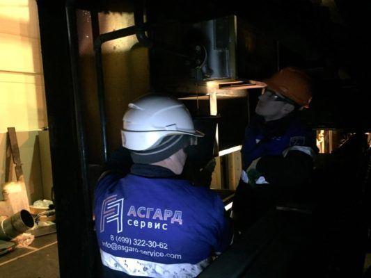 Специалисты компании АСГАРД за работой