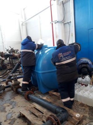 Подготовительные работы пере началом химической промывки