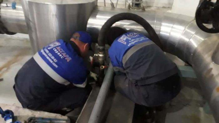 Подключение оборудования для промывки хранилища ДТ