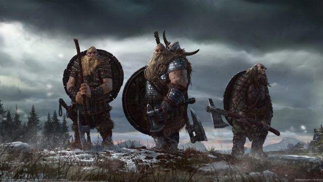 Викинги в полном обмундировании